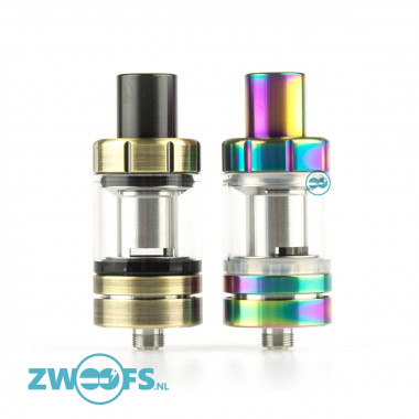 De Eleaf Melo 3 Mini is een subohm, top-fill clearomizer met een tankinhoud van 2ml.