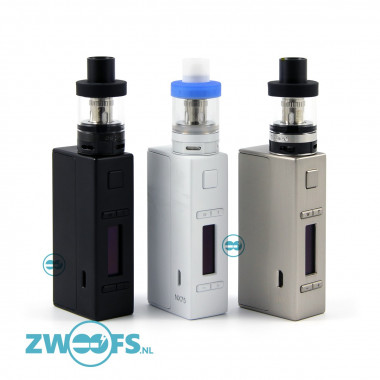 De Aspire EVO75 is een sub-ohm starter kit en bestaat uit de Aspire NX75 box mod en een Aspire Atlantis EVO clearomizer.