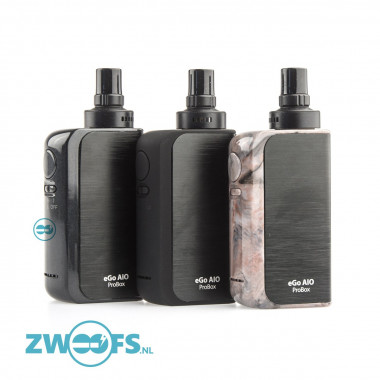 De Joyetech ProBox AIO is een all-in-one combinatie van een 2100mAh batterij en een 2ml. clearomizer.