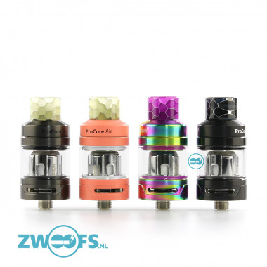 De ProCore Air is een 2ml. Clearomizer die zowel geschikt is voor de mouth to lung (MTL) als de direct lung (DL) damper.