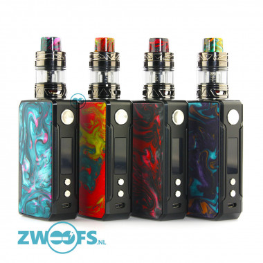 De Direct Lung Voopoo Drag 2 Kit wordt geleverd met de 177watt krachtige Drag 2 Box Mod en de 2ml. Uforce clearomizer.