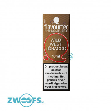 Flavourtec Wild West Tobacco eliquid is een mix van Amerikaanse tabaksoorten