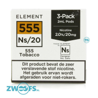 Element NS20 Pod - 555 Tobacco (3 Stuks)