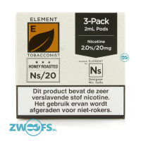 Element NS20 Pod - Honey Roasted Tobacco (3 Stuks)