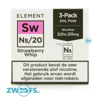 Element NS20 Pod - Strawberry Whip (3 Stuks)