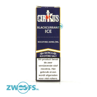 Cirkus Nic Salt E-Liquid - Blackcurrant Ice