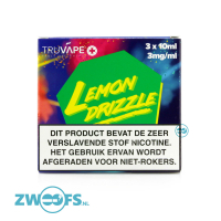 TruVape High VG E-liquid - Lemon Drizzle (3x10ml.)