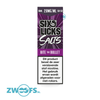 Six Licks Nic Salt E-Liquid - Bite The Bullet