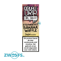 Double Drip High VG E-Liquid - Strawberry & Banana Waffle