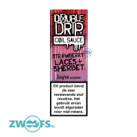 Double Drip High VG E-Liquid - Strawberry Laces & Sherbet